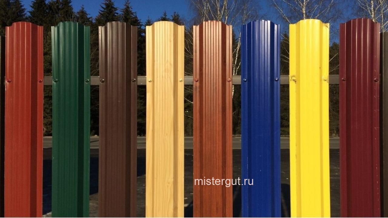 Цвет евроштакетника