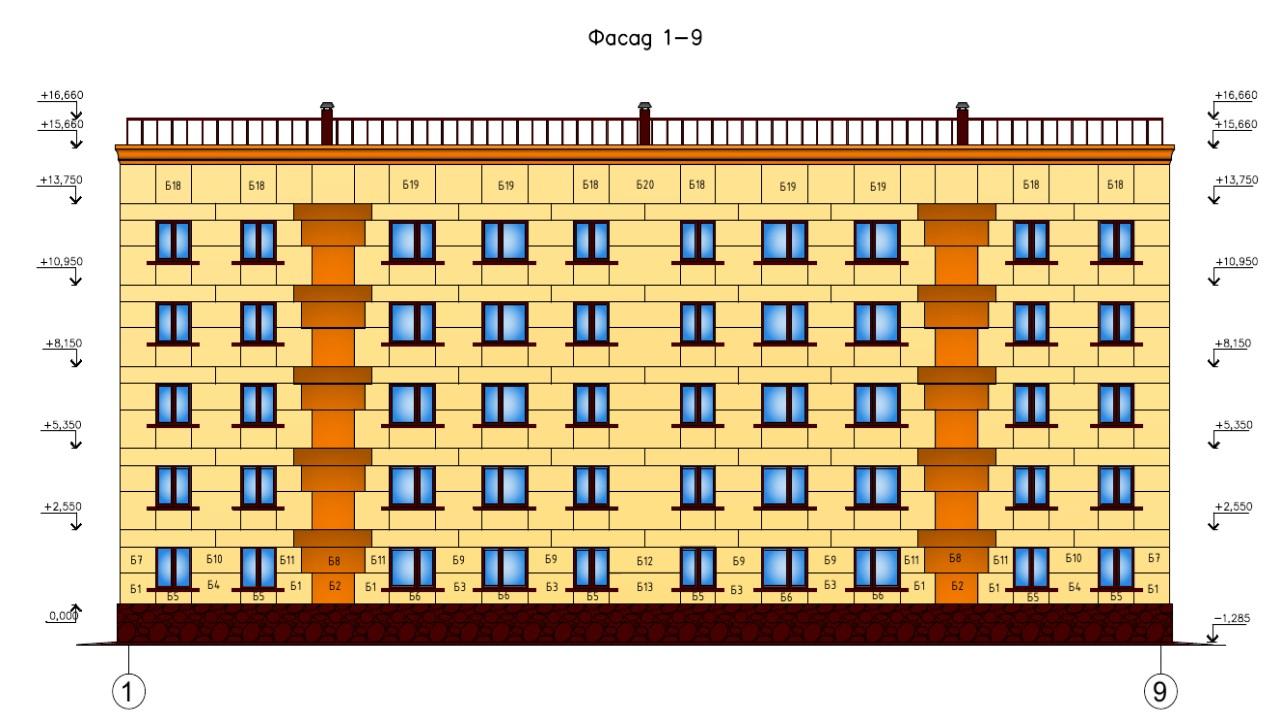 Высота пятиэтажного дома.