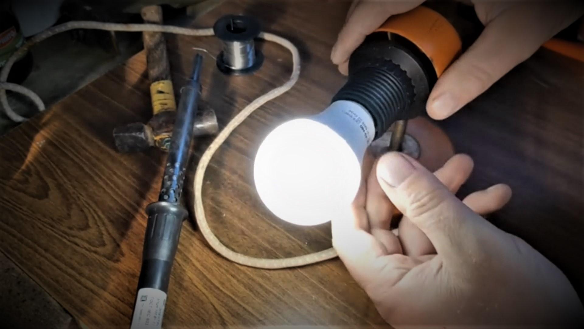 Как починить лампочку.