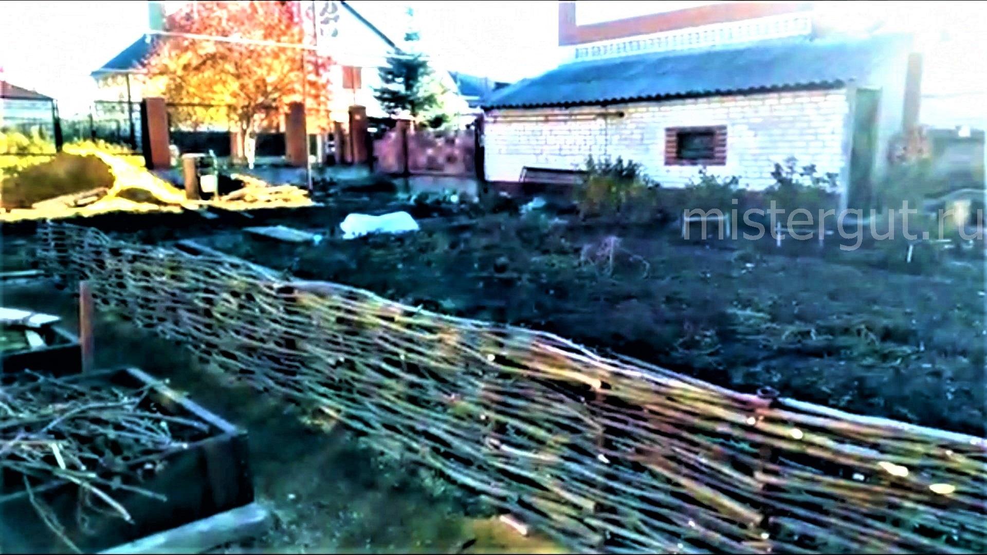 Забор из веток -это плетень